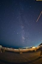 ホテル屋上からの星空