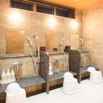 【1階浴場】洗い場(女湯)
