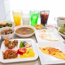 【朝食】人気の無料朝食バイキング! (ご利用可能時間・6:30〜9:30)