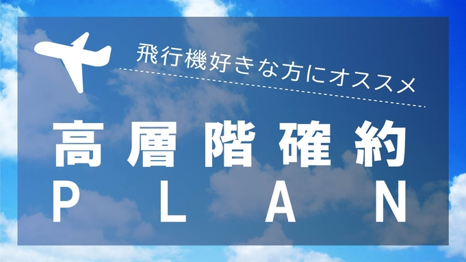 【室数限定】飛行機好きの方へ!高層階確約プラン★朝食付[HFB]