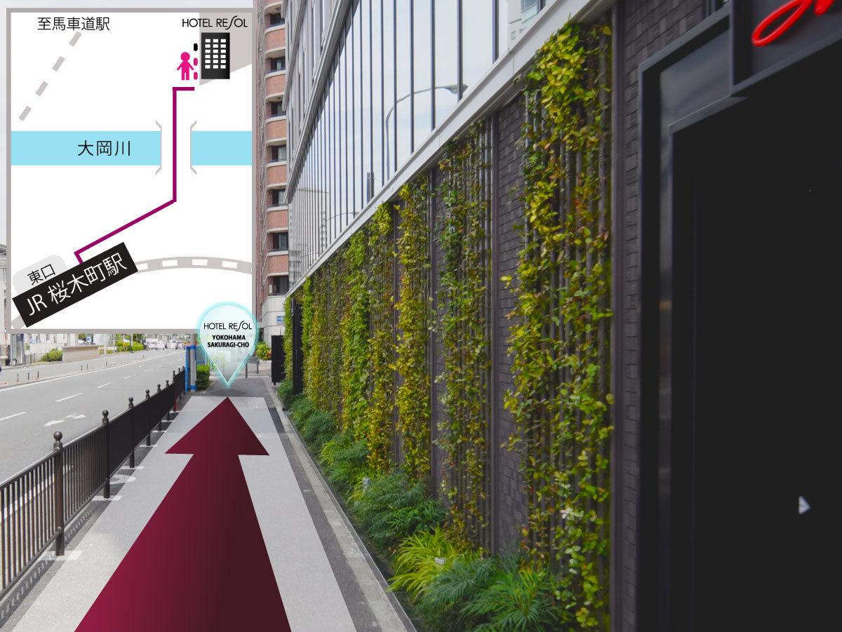 (12)一つ目の入口はレストラン「イルキャンティ」グリーンアート沿いに直進しホテル入口へ