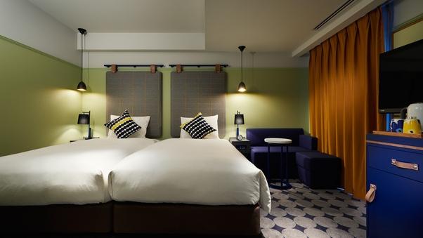 ■ツインルーム【全室禁煙】ベッド幅110cm×2台