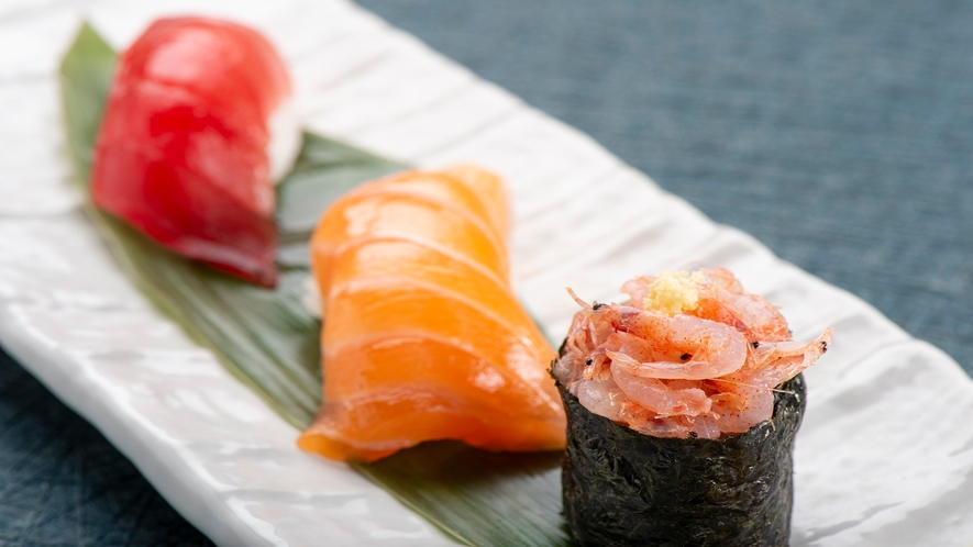 本日の握り寿司3種
