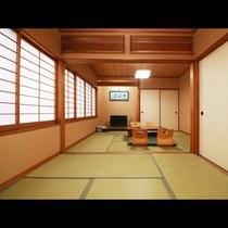 ■【客室】2間続きのお部屋でのんびりゴロゴロ♪