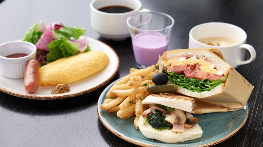 サンドウィッチがメインのこだわりの朝食(イメージ)