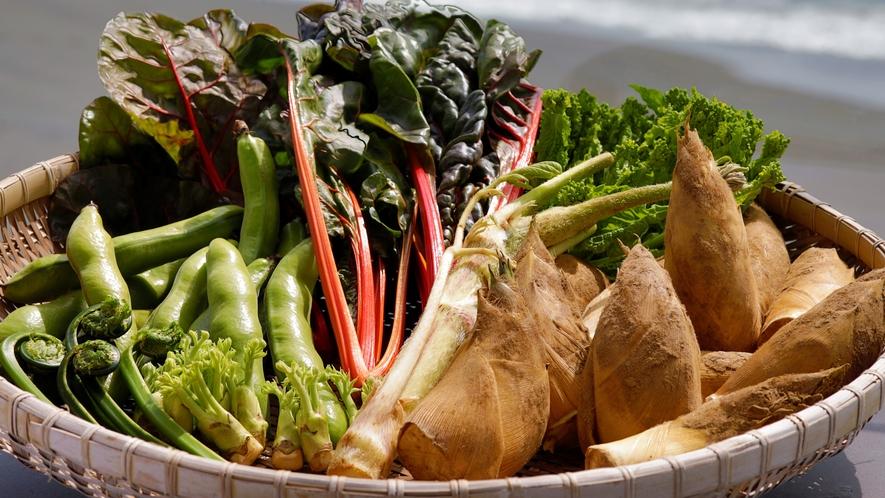 旬なお野菜をふんだんにしようした会席料理