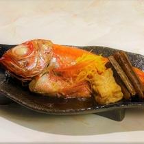 【夕食】オプション予約メニュー(金目の煮つけ)