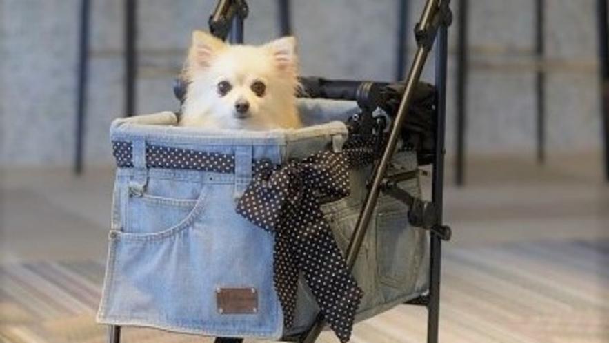 【愛犬カート】マザーカート×メルセデスベンツのコラボカートをレストランにて無料貸出有り