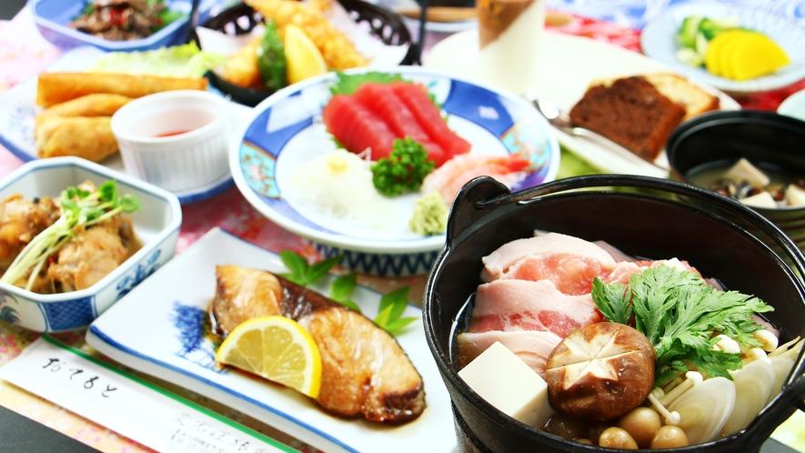 ■【夕食一例】板前出身の館主が手がける和食は家庭的ながら技が光ります☆