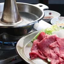 【夕食】飛騨牛のしゃぶしゃぶ