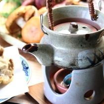 【きのこ料理】蒸し物-とんび蒸し(松茸、イボコボリ、鱧)