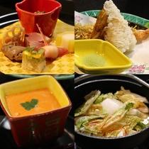 冬のご夕食のお料理の一部の一例です。