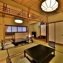「露天メゾネット」のお部屋の一例(2階建の特別室。こちらは1F部分です)