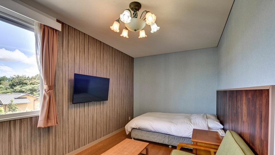 *【本館(ダブル)】テレビは壁掛けなのでスッキリしたスペースです