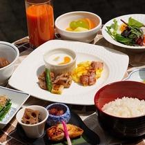 免疫力アップの朝食セットメニュー