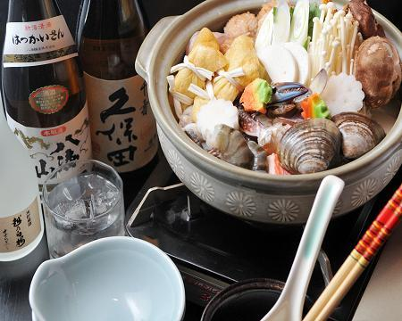 【串金】鍋コース - a one-pot dish cooked at the table