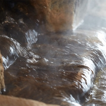 源泉掛け流しの展望大浴場