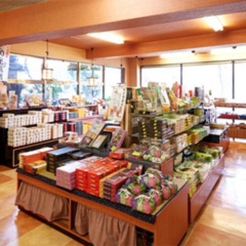 大分の特産品・限定菓子を揃えた売店