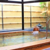 """*当ホテルのアルカリ温泉""""ゆるり""""。美人湯としてお楽しみくださいませ。写真は男湯。"""