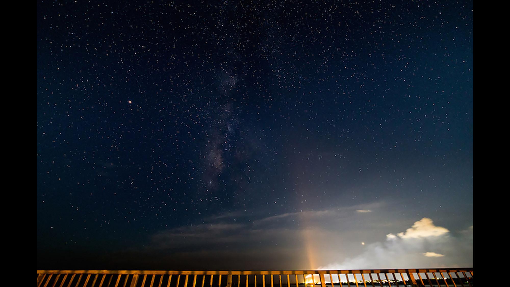 11月〜6月は天の川は見えませんがそれでも満天の星空は美しい