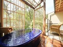 TOP風の棟【露天風呂付き】メゾネットの露天風呂(一例)