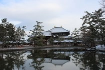冬 東大寺と鏡池