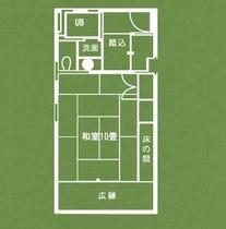 月の棟 和室客室(平面図)