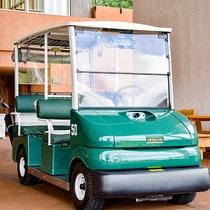 *ゴルフカート/GPS機能を搭載した電磁誘導カートを導入