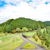 *スイートルーム・客室からの景色/ゴルフコースの向こうには那須の大自然が広がります。