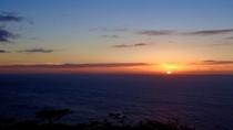 高台からの夕陽