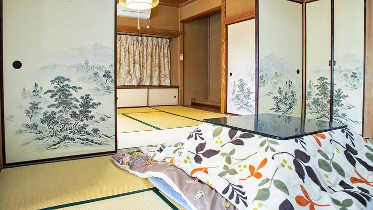 *[1階和室]ご利用人数にもよりますが冬は炬燵をご用意します