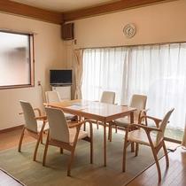 *[リビング]窓が多く明るい室内。冬はホットカーペット&ファンヒーターで寒さ対策バッチリ!