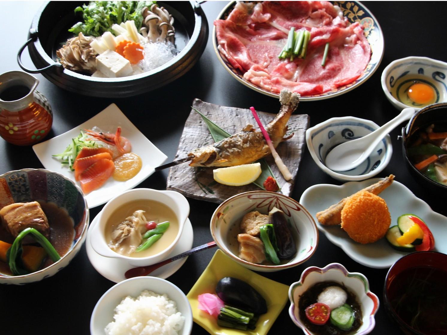 新潟和牛すき焼き付夕食一例
