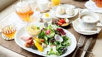 【朝食カフェB】爽やかな軽井沢で、朝食を。。。きのこスープは絶品