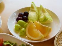 新鮮なフルーツも自慢です。