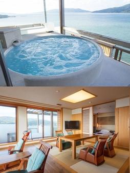 【アニバーサリーフロア】油谷湾一望の露天風呂付き和洋室