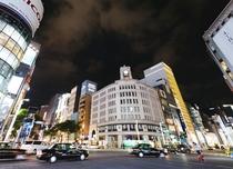 【銀座和光の時計台】街を代表するシンボルです