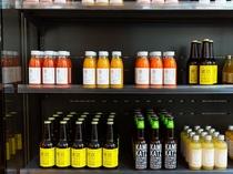 【TEA SALON: ボトルショップ】珍しい銘柄のビール・ジュース類をご用意しております