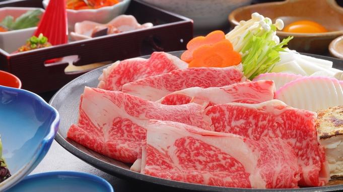 【夕食グレードアップ★】「福島牛A4ロース」すきしゃぶ鍋+会津BUKE和膳♪地産ブランド牛を堪能!