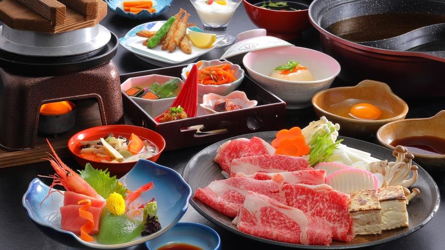 福島牛A4ロースのすきしゃぶ鍋