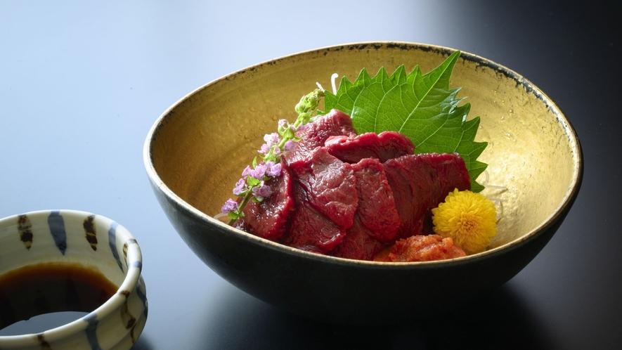 【追加料理】地元会津の味覚「馬刺し」事前注文で1品追加もいただけます(有料・電話予約)。