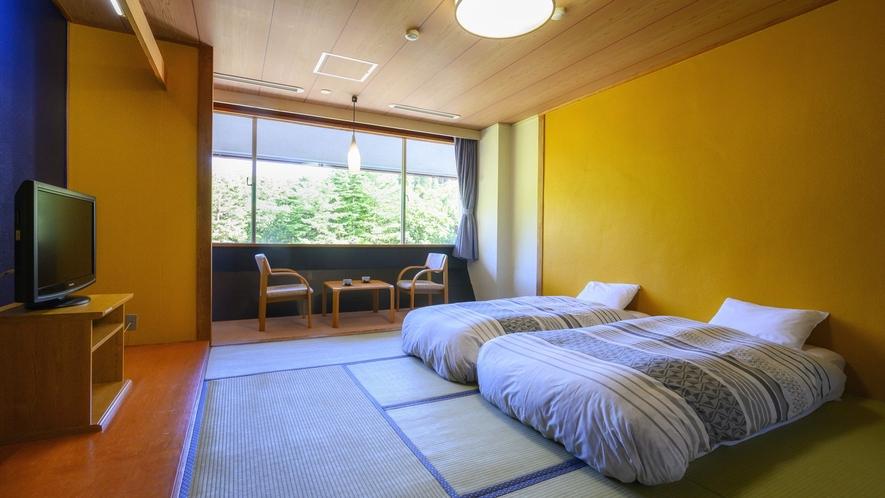 【ザ・メイン 和室ベッドルーム】お二人様のご旅行に最適なツインベッドのお部屋