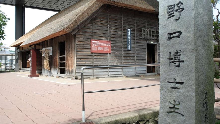 【野口英世記念館】福島県猪苗代町出身の細菌学者・野口英世博士の博物館です。(当館から車で25分)