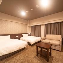 ◆ツインルームB29平米 ベッドサイズ120cm×195cm×2台+ソファーベッド1台◆