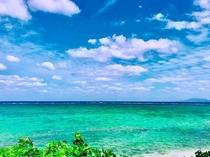 ALOALOテラスから海