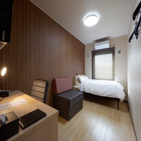◆シングルルーム◆14平米・ベッド幅120cm(朝)
