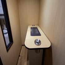 1階 喫煙コーナー(洗濯機・乾燥機コーナー奥にあります。)