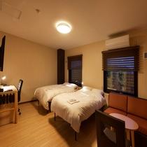 ◆ツインルーム◆24平米・ベッド幅120cm×2台 (夜)