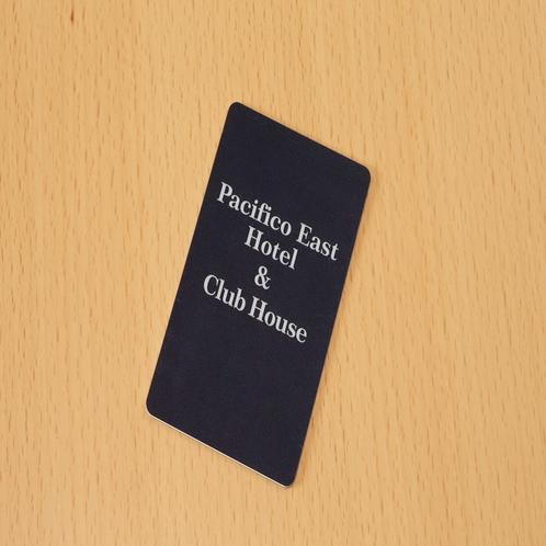 客室はカードキーとなっております。