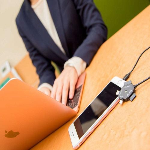 主要キャリアの携帯電話やスマートフォン(iPhone・android)に対応・マルチ充電器完備
